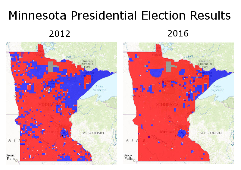 MN Presidential Election Maps 2012/2016