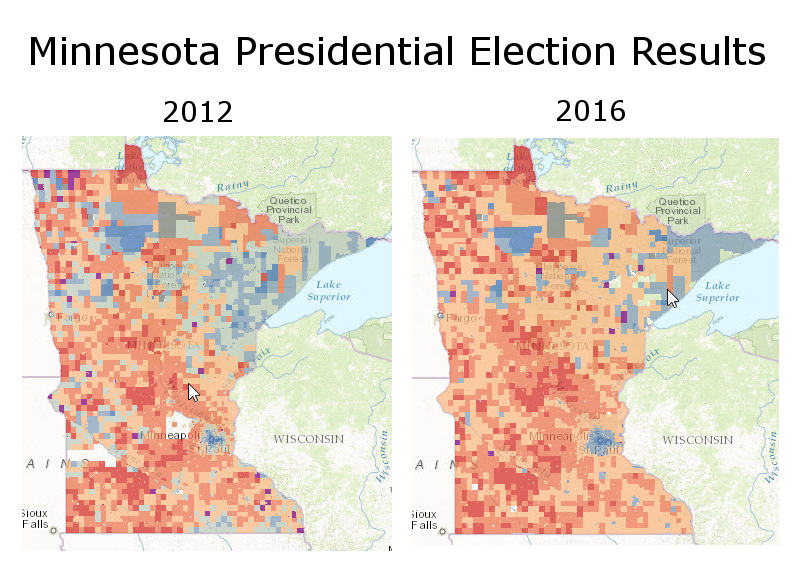 MN Presidential Election Maps