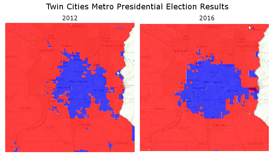 Twin Cities Presidential Election Maps 2012/2016